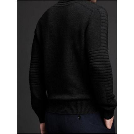 CANADA GOOSE Knits & Sweaters Crew Neck Wool Long Sleeves Plain Knits & Sweaters 4