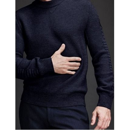 CANADA GOOSE Knits & Sweaters Crew Neck Wool Long Sleeves Plain Knits & Sweaters 8