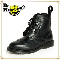Dr Martens Wing Tip Plain Leather Engineer Boots