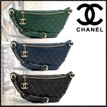 CHANEL MATELASSE Casual Style Calfskin Plain Shoulder Bags