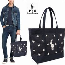 Ralph Lauren Star Casual Style Canvas A4 Totes