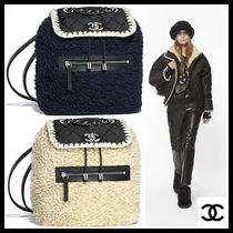 CHANEL Casual Style Nylon Blended Fabrics Bi-color Chain Plain