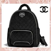CHANEL Casual Style Unisex A4 2WAY Plain Backpacks