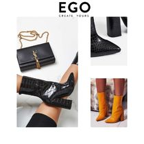 EGO Casual Style Faux Fur Plain Other Animal Patterns