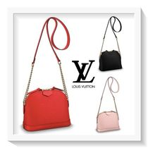 Louis Vuitton ALMA Calfskin Blended Fabrics 2WAY Plain Elegant Style Handbags