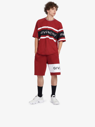 GIVENCHY Crew Neck Crew Neck Street Style Cotton Short Sleeves 3