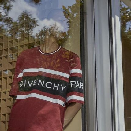 GIVENCHY Crew Neck Crew Neck Street Style Cotton Short Sleeves 14