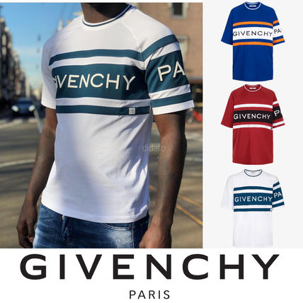 GIVENCHY Crew Neck Crew Neck Street Style Cotton Short Sleeves