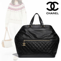 CHANEL A4 Plain Leather Elegant Style Bags