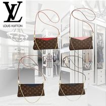 Louis Vuitton PALLAS Monoglam Leather Party Style Party Bags