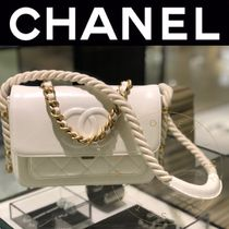 CHANEL ICON Other Check Patterns Calfskin Street Style 2WAY Chain Plain