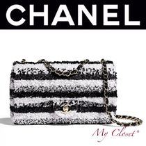 CHANEL ICON Stripes 2WAY Chain Handmade With Jewels Elegant Style