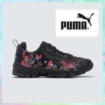 PUMA Flower Patterns Unisex Collaboration Sneakers