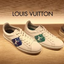 Louis Vuitton Blended Fabrics Leather Sneakers