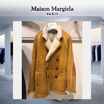 Maison Martin Margiela Short Fur Plain Peacoats Coats