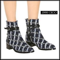Jimmy Choo Round Toe Leather Elegant Style Ankle & Booties Boots
