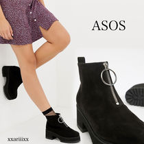 ASOS Round Toe Casual Style Suede Blended Fabrics Street Style