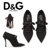 Dolce & Gabbana Plain Pin Heels Ankle & Booties Boots