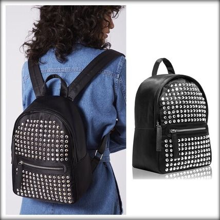 Casual Style A4 Plain With Jewels Backpacks