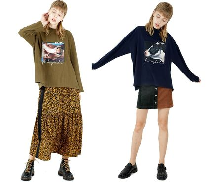 Casual Style Street Style Long Sleeves Other Animal Patterns