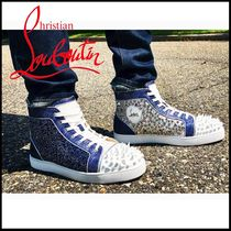 Christian Louboutin Studded Street Style Plain Sneakers