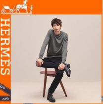 HERMES Crew Neck Cashmere Long Sleeves Knits & Sweaters