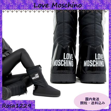 Round Toe Casual Style Plain Mid Heel Boots
