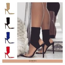 SIMMI Street Style Plain Pin Heels Party Style