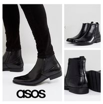 ASOS Plain Toe Faux Fur Plain Boots