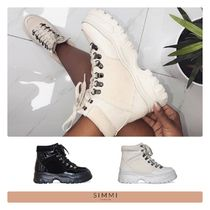 SIMMI Mountain Boots Round Toe Rubber Sole Casual Style Suede