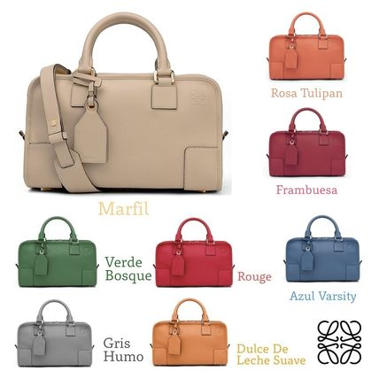 Calfskin 2WAY Plain Office Style Handbags
