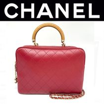 CHANEL MATELASSE Other Check Patterns Street Style 2WAY Chain Plain Leather
