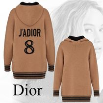 Christian Dior JADIOR Stripes Casual Style Unisex Cashmere Blended Fabrics