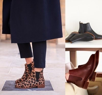 Leather Flat Boots