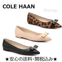 Cole Haan Leopard Patterns Casual Style Spawn Skin Plain Slippers