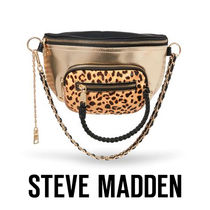 Steve Madden Leopard Patterns Casual Style Faux Fur 2WAY Bags