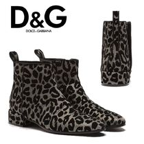 Dolce & Gabbana Leopard Patterns Ankle & Booties Boots