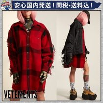 VETEMENTS Other Check Patterns Casual Style Unisex Wool Long Sleeves