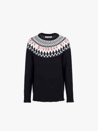GIVENCHY Knits & Sweaters Crew Neck Unisex Wool Long Sleeves Knits & Sweaters 2