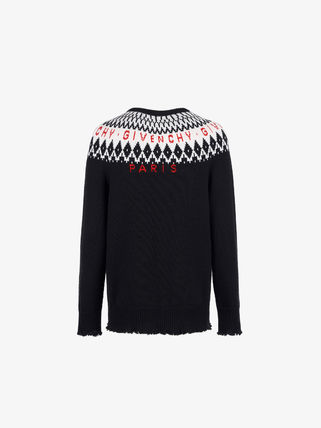 GIVENCHY Knits & Sweaters Crew Neck Unisex Wool Long Sleeves Knits & Sweaters 6