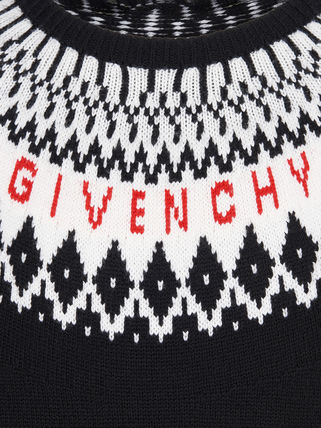 GIVENCHY Knits & Sweaters Crew Neck Unisex Wool Long Sleeves Knits & Sweaters 7