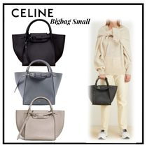 CELINE Big Bag Calfskin 2WAY Plain Elegant Style Handbags