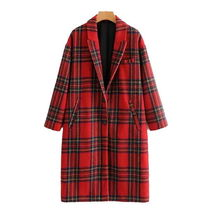 Tartan Other Check Patterns Casual Style Wool Medium
