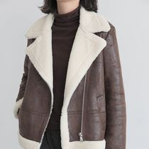 Faux Fur Blended Fabrics Bi-color Plain Medium