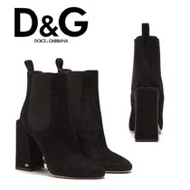 Dolce & Gabbana Plain Block Heels Ankle & Booties Boots