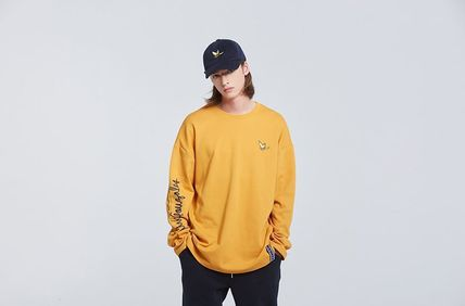 ROMANTIC CROWN Long Sleeve Unisex Street Style Collaboration Long Sleeves 20