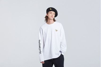 ROMANTIC CROWN Long Sleeve Unisex Street Style Collaboration Long Sleeves 6