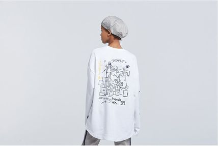 ROMANTIC CROWN Long Sleeve Unisex Street Style Collaboration Long Sleeves 8