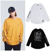 ROMANTIC CROWN Unisex Street Style Collaboration Long Sleeves