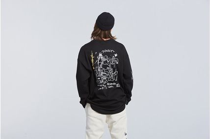 ROMANTIC CROWN Long Sleeve Unisex Street Style Collaboration Long Sleeves 13
